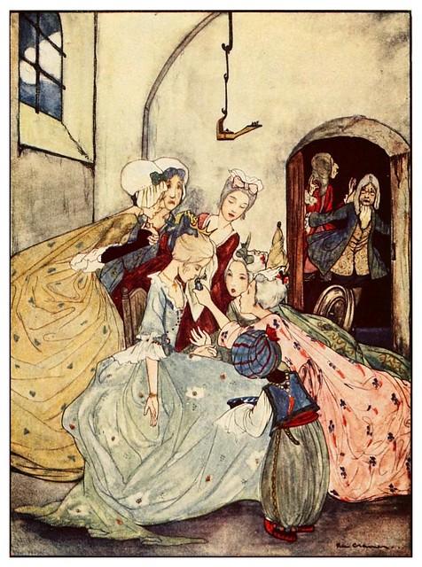 013- La bella durmiente-Favourite French fairy tales -1921-ilust. Rie Cramer