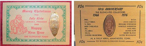 Sally Kirka elongated cent cards combined