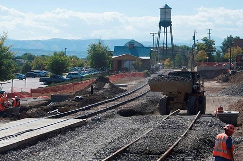 Photo of Vance Street crossing construction in Olde Town Arvada