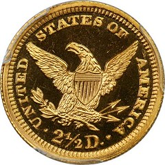 Proof 1894 Quarter Eagle reverse