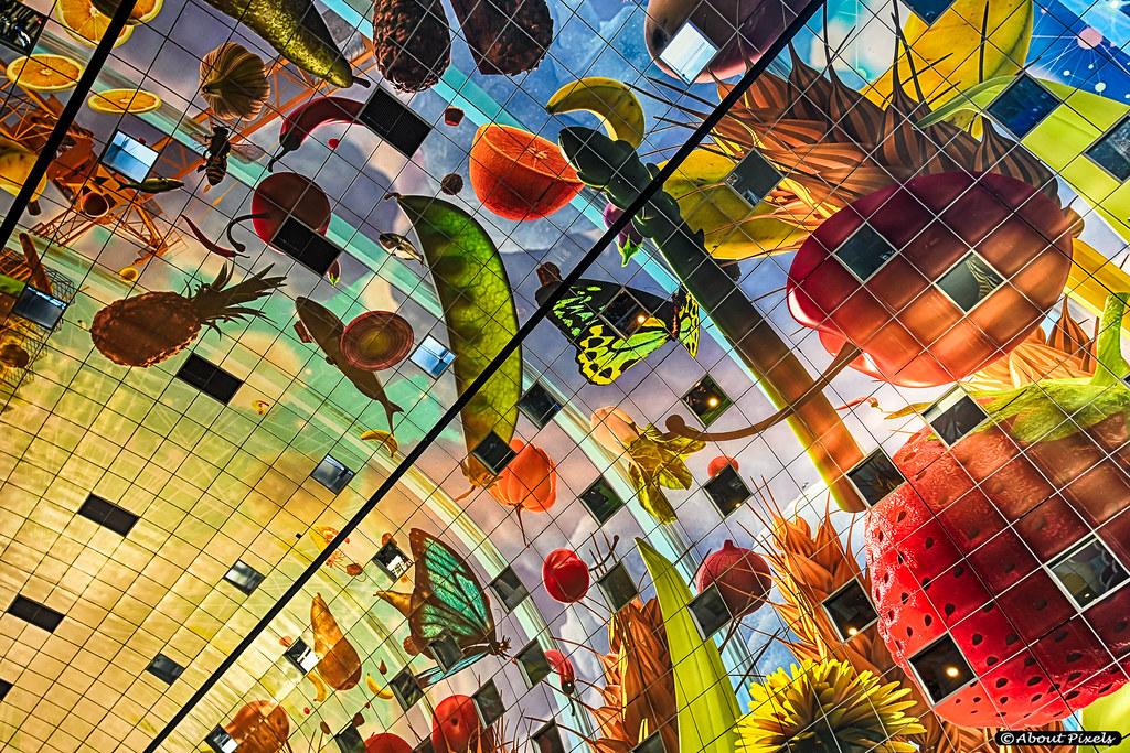 Markthal rotterdam culinair in kleur meteo hellevoetsluis for Fellini rotterdam