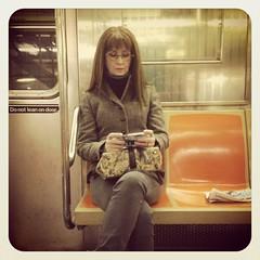 Friday morning 1 train. #nycsubwayportraits #nyc #train #subway #publictransportation #commute #1train