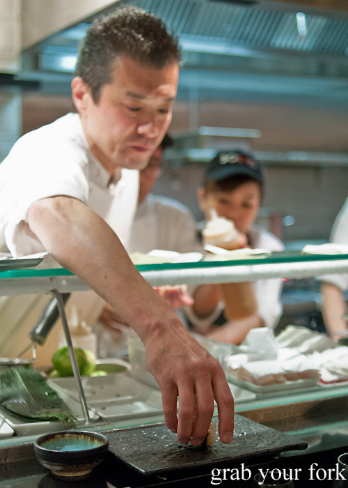 Sushi chef Takashi Sano at Sokyo at The Star, Pyrmont