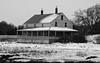 Winter farm house  New England