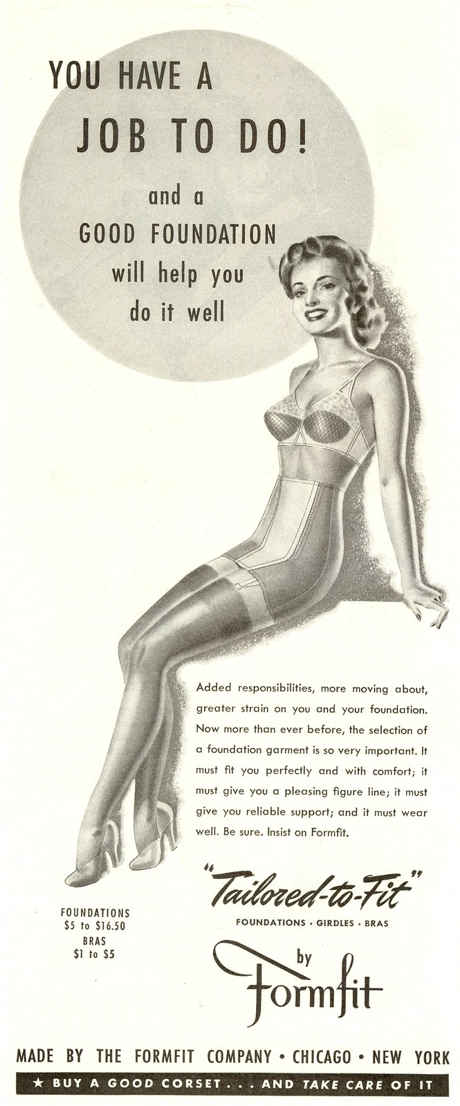 Formfit - published in Woman's Home Companion - October 1942