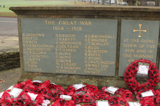 Castle Bromwich War Memorial Names Of Those Who Died In