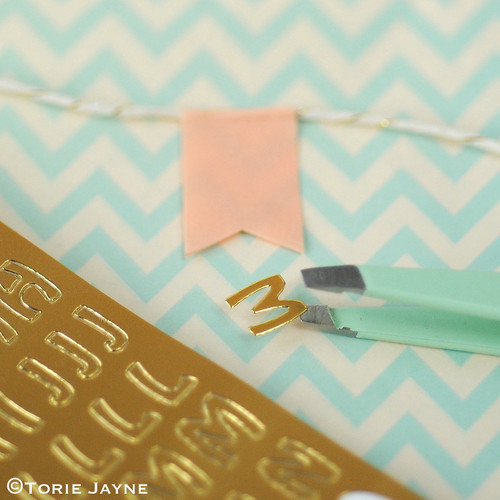 'Merry Christmas' pretty washi tape bunting tutorial 4