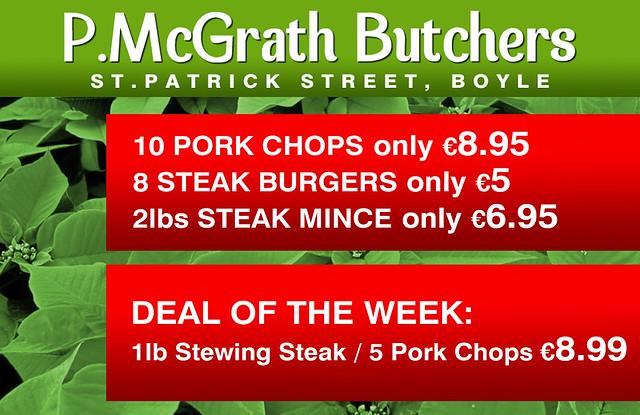 P.McGrath Butchers, Christmas Offer