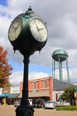 Collierville, TN Town Square Clock and Water Tower