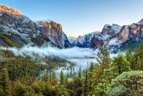 First Snow at Tunnel View - Yosemite National Park