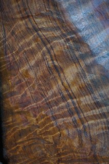 A flat piece of wood with amazing grain.
