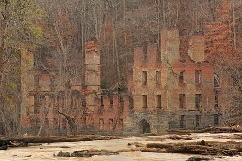 New Manchester Textile Mill Ruins, Sweetwater Creek, Sweetwater Creek State Conservation Park, Douglas County, Georgia 1