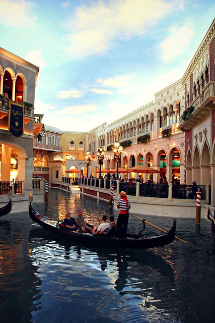 The Venetian Grand Canal in Las Vegas