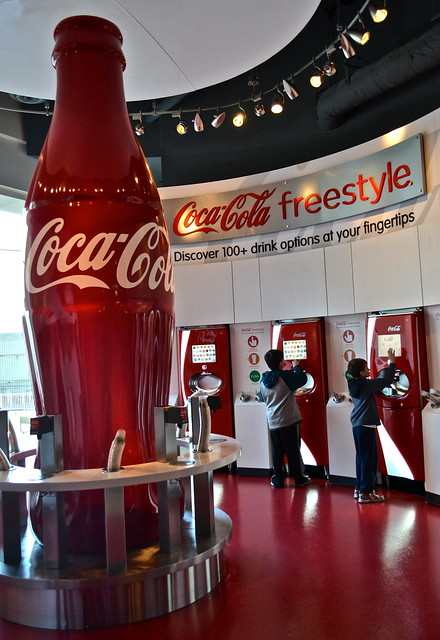 free tasters from around the world - Coca Cola World