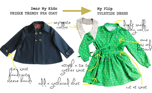 Dear My Kids, Trendy Unisex Pea Coat {flipped by: Chelise Patterson}