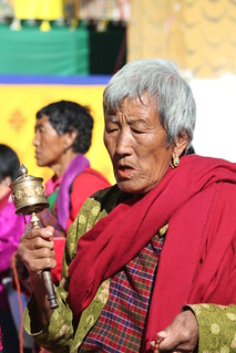 Image of prayer wheel. bhutan stupa prayerwheel oldlady chorten pilgrim pilgrims thimphu prayerbeads circumambulation 2013 jigmedorjiwangchuck memorialchorten westernbhutan thirdking