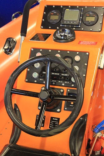 The helming position on the Atlantic 75