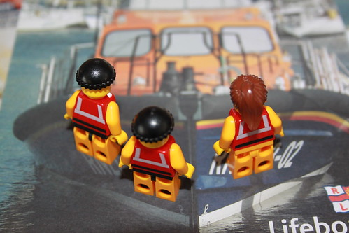 The Crew reading about the new Shannon lifeboat