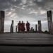 Three Monks on a Bridge by Gzooh