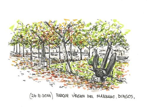 Parque Virgen del Manzano en Burgos
