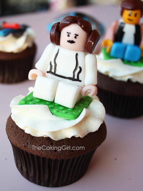 Star Wars cupcakes, Princess Leia Cupcake