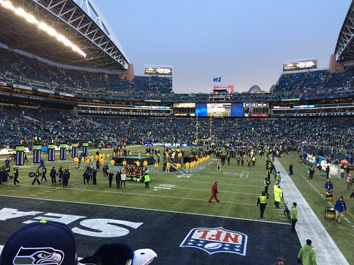 CenturyLink Field after yesterday's NFC victory