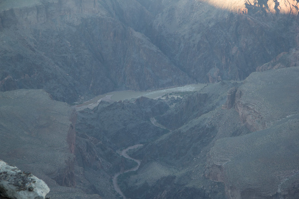 View of Colorado River from South Rim of Grand Canyon along Hermits Rest Trail
