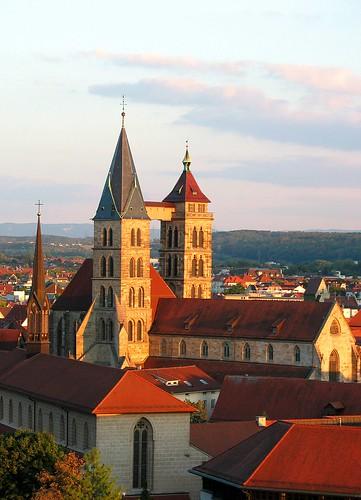 Esslinger Kirchen von der Neckarhalde