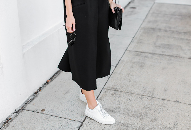 modern legacy blog ASOS duster coat black dress sneakers street style Alexander Wang Prisma clutch monochrome (13 of 13)