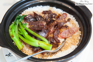Chinese cured duck, Chinese sausage clay pot rice