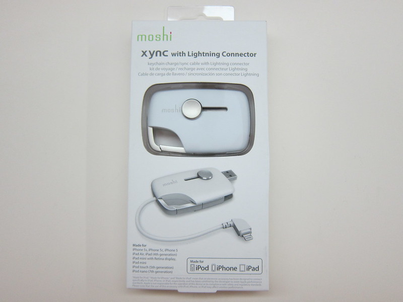 Moshi Xync With Lightning Connector - Box Front