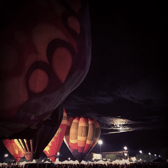 Balloons and moon. by bartlewife