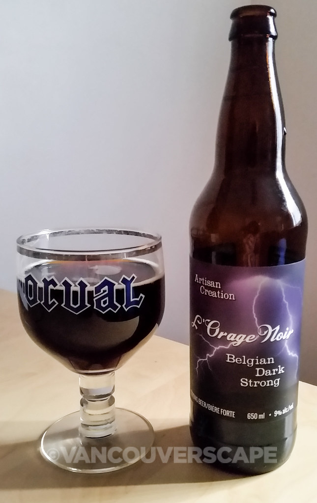 Cannery Brewing L'Orage Noir Belgian dark strong beer