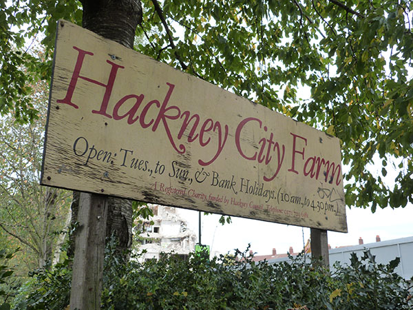pancarte Hackney city farm