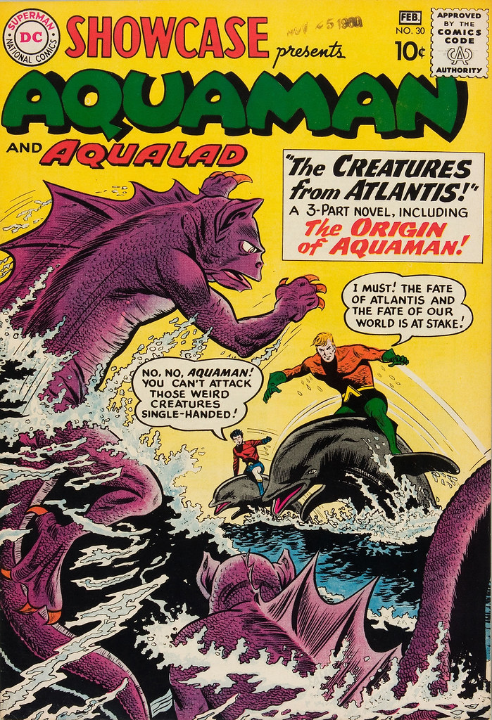 Showcase #30 Aquaman (DC, 1961) Howard Purcell and Sheldon Moldoff Cover