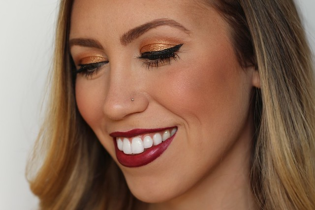 Bronze Eyes & Wine Lips | Holiday Makeup | #LivingAfterMidnite