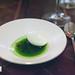 Palate cleanser/pre-dessert: Buttermilk sorbet and sorrel