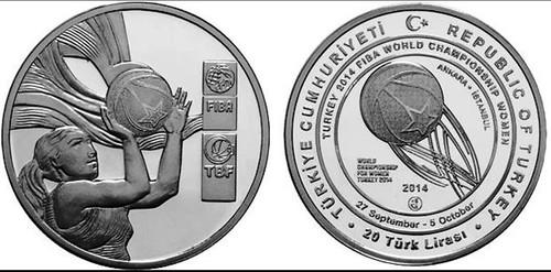 Turkey Women's Basketball 20 Lira coin