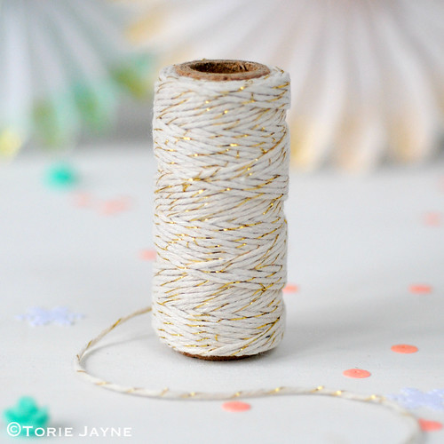Cream & gold bakers twine