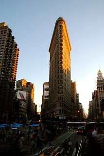 Image of Flatiron Building near City of Hoboken. sky sunlight newyork building manhattan flatironbuilding flatiron