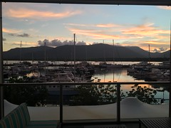 Sunrise over Cairns harbor