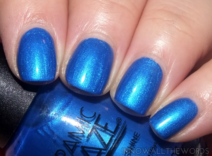 ceramic glaze holiday bling collection- santorini blue