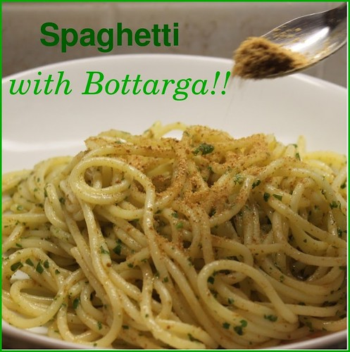 Bottarga di Muggine with Spaghetti at Mama Isa's Cooking School in Italy near Venice