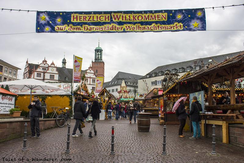 DARMSTADT - Marktplatz - (Darmstädter Weihnachtsmarkt)