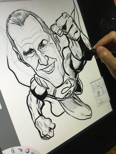 Digital caricature sketching