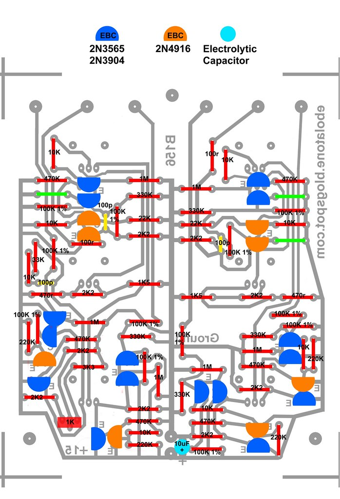 Buchla 156 5b parts legend