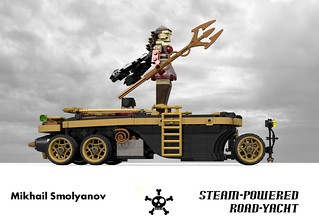 Steampunk Steam-Powered Road-Yacht (Mikhail Smolyanov - 2014)