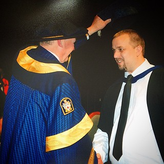 A pic of my capping photo. #graduation #Massey