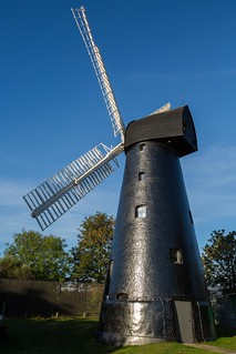 Windmill in the early morning sunshine.