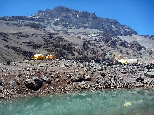 Nos tentes à Plaza de Mulas